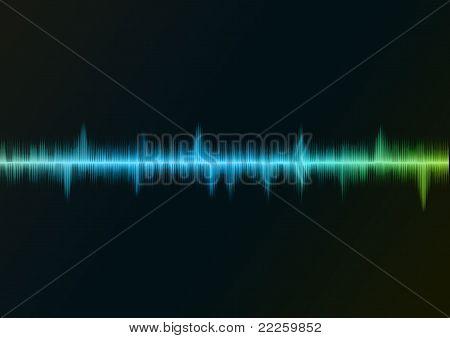 Sound wave blue
