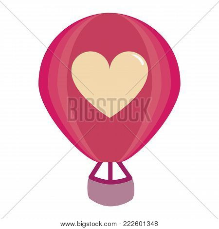 cute hot air balloon colorful isolated
