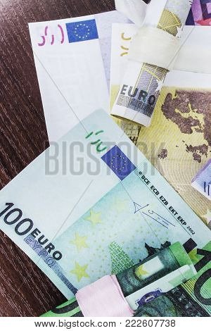 Euro Money Of Different Denominations