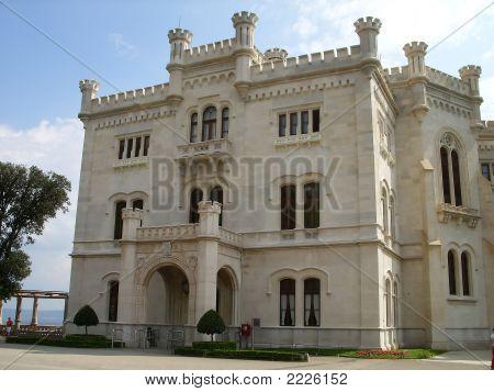 Castle Miramare In Triest