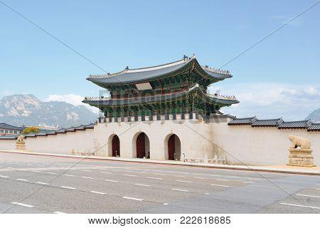 Gyeongbokgung palace in Seoul city, South korea.
