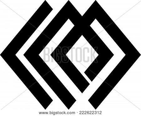 Letter L M Modern Logo Design Template Vector