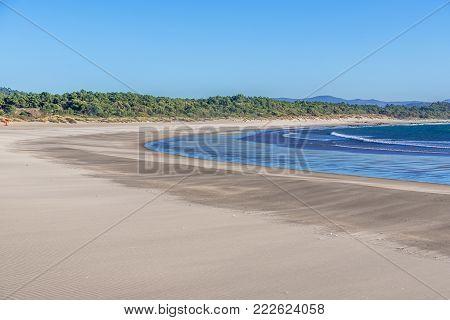 Cabedelo Beach over Atlantic Ocean in Viana do Castelo, Portugal