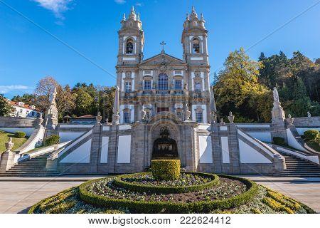 Famous sanctuary Bom Jesus do Monte near Braga city in historical Minho Province, Portugal