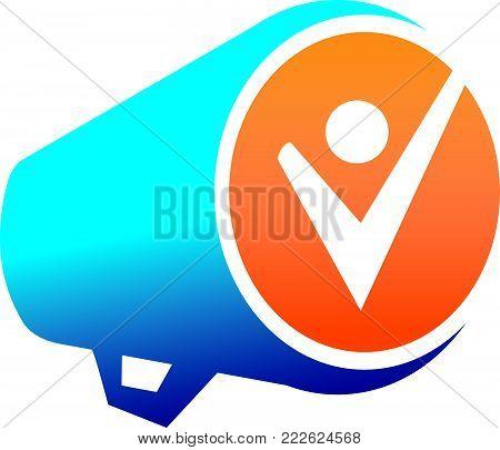 Megaphone Freedom Voice Logo Design Template Vector