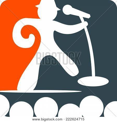 Success Public Speaking Logo Design Template Vector