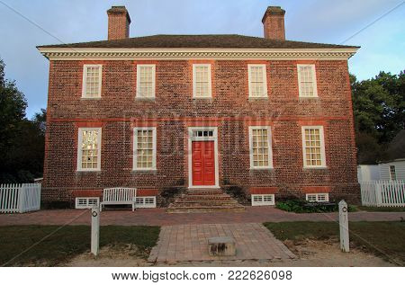 Williamsburg, Va - October 6: Built In The 1750s, The Wythe Home Was The Home Of George Wythe, Signe