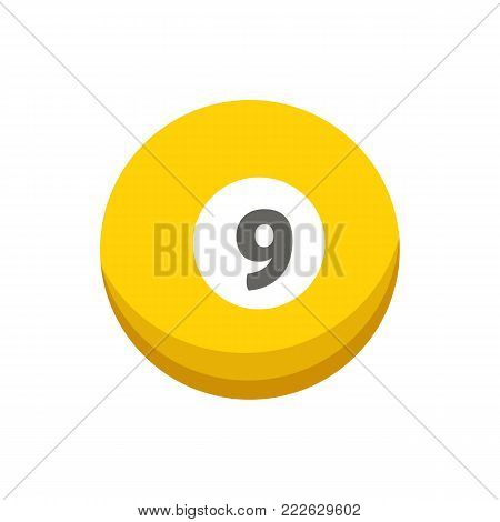 Vector cartoon colorful billiard ball isolated illustration