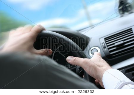 Quck Turn / Driving A Car / Steering Wheel