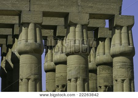 Columns At Luxor Temple