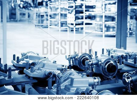 Automobile factory warehouse, a new booster pump