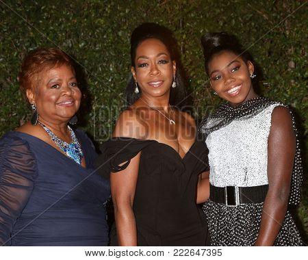 LOS ANGELES - JAN 15:  Guest, Tichina Arnold, daughter at the 49th NAACP Image Awards - Arrivals at Pasadena Civic Center on January 15, 2018 in Pasadena, CA