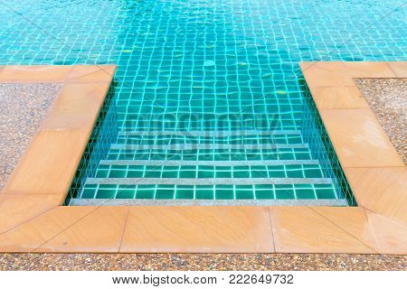 Edge Of Clean Blue Swimming Pool