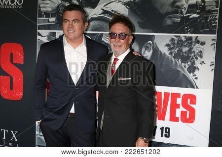 LOS ANGELES - JAN 17:  Tucker Tooley, Mark Canton at the