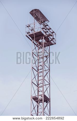 lookout tower on sky background , summer, architecture