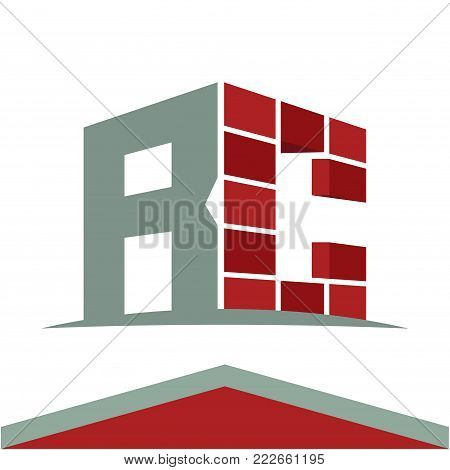 Icon logo for construction business with initials combination of letters R and C