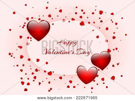 Festive background design for greeting cards for Valentine's Day, Mother's Day or Birthday. Vector illustration