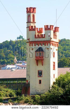 Mice tower near Bingen am Rhein in germany