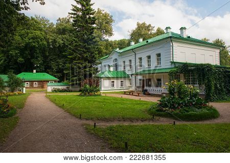 House Of Leo Tolstoy In The Estate Of Count Leo Tolstoy In Yasnaya Polyana In September 2017.