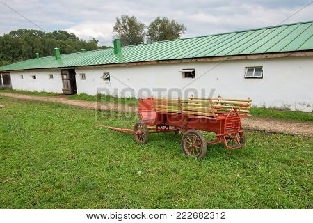 Stable in the estate of Count Leo Tolstoy in Yasnaya Polyana in September 2017.