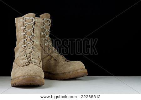 Army Combat Boots - Angle