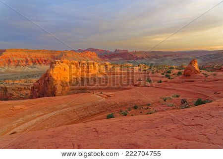 The Delicate Arch is the most famous rock formation in Utah located in Arches National Park