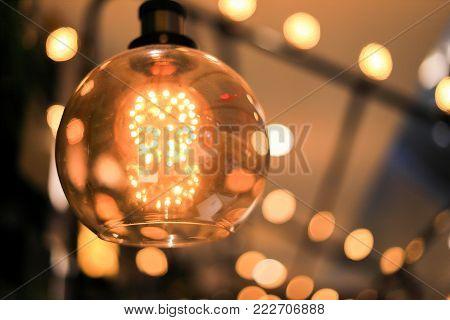 Decoration antique edison led light style filament light bulbs ,turn on the light , color vintage style, focus only led light,Thailand