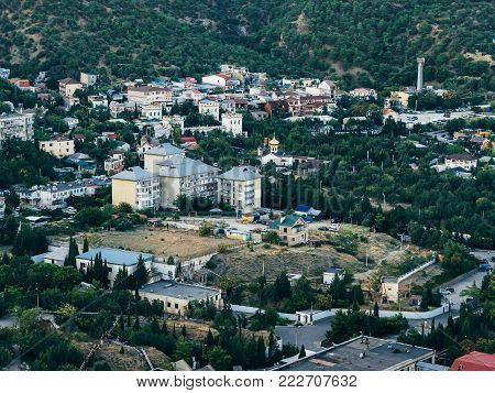 resort town in the Crimea, between the mountains and the forest