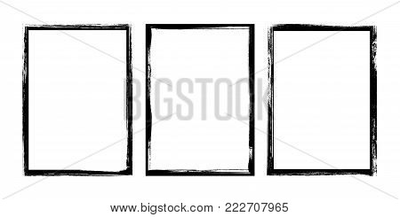 Grunge frame on a white background  - stock vector.