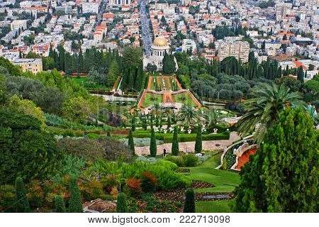 Bahai Gardens, the slope of Mount Carmel