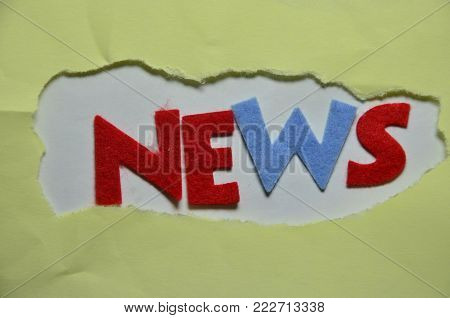 word news on an  abstract colored background