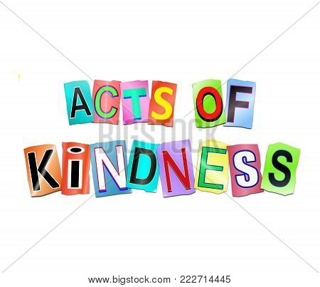Acts Of Kindness Concept.