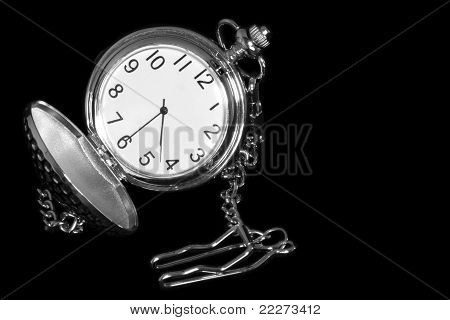 opend old pocket watch
