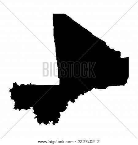 Territory of Mali. White background. Vector illustration