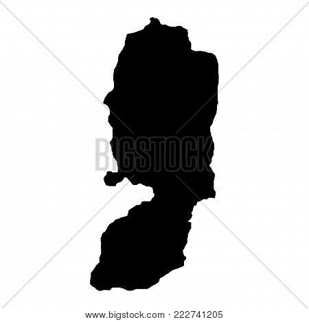 Territory of Palestine. White background. Vector illustration