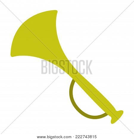 Trumpet icon on a white background, Vector illustration