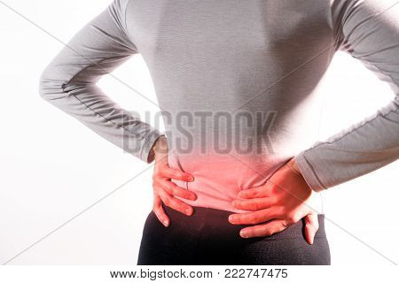 the women suffer from  back injury/painful after working
