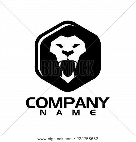 best Lion head logo vector - lion vector concept illustration. Lion head logo. Wild lion head graphic illustration. Wilde cat logo sign. Pride of lion logo sign. Design element.