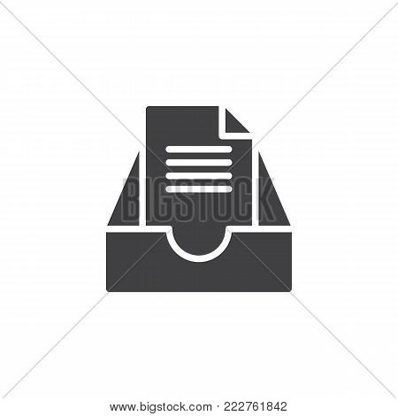 Archive mail box icon vector, filled flat sign, solid pictogram isolated on white. Symbol, logo illustration.
