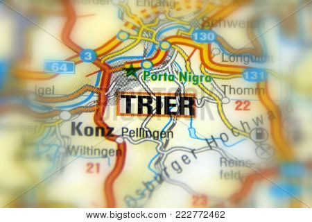 Trier, a city in Germany on the banks of the Moselle.