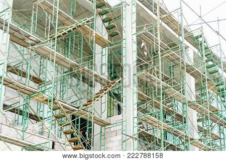 Scaffolding used as the temporary structure to support platform, form work and structure at the construction site. Also used it as a walking platform for workers.