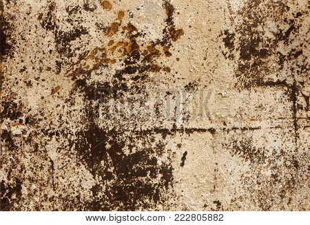 Old rusted metal sheet. Rusty surface caused by oxidation iron. For design work texture and background.