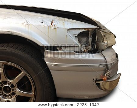 car crash accident on the road, car accident for insurance.