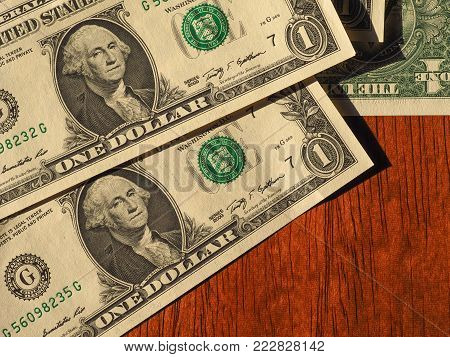 Dollar Notes, United States With Copy Space