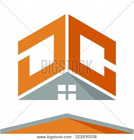 icon logo for construction business with the concept of roofs and combinations of letters D & C