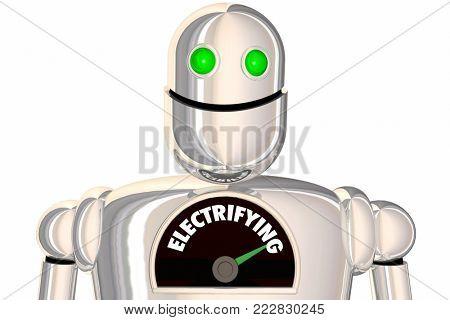 Electrifying Robot Level Electricity 3d Illustration