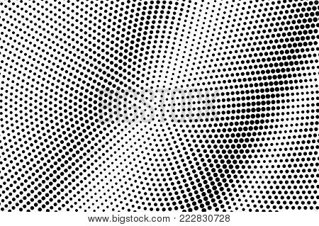 Black white dotted halftone. Half tone vector background. Diagonal smooth dotted gradient. Abstract monochrome texture. Black ink dot on transparent backdrop. Pop art dotwork. Retro design template