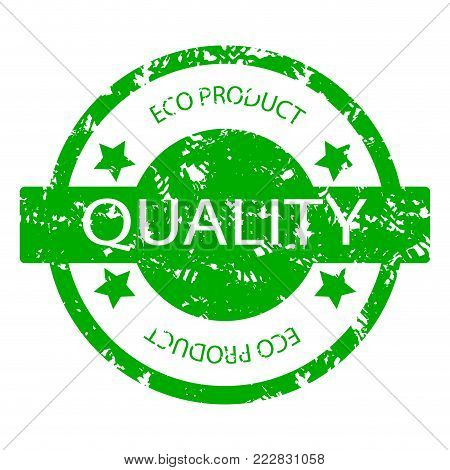 Organic Product Seal Vector Texture