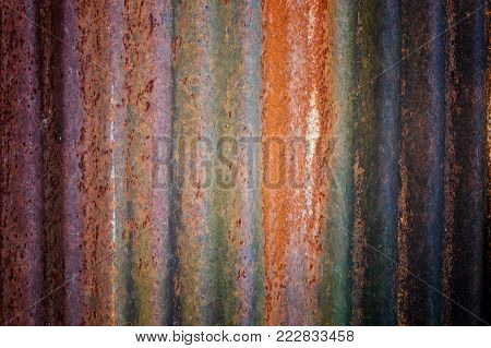 Abstract  Dark Worn Rusty Metal Texture Background.