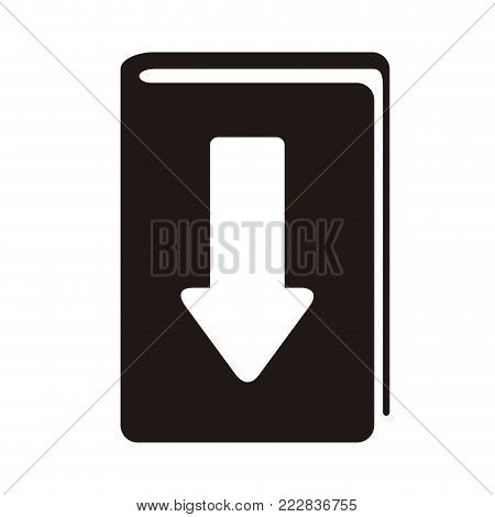 E-book download graphic design, icon, Vector illustration